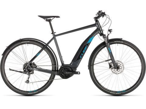 Elektrokolo CUBE Cross Hybrid ONE 400 AllRoad iridium/blue 2019
