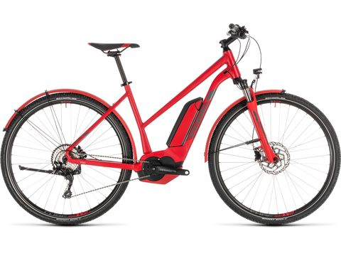 Elektrokolo CUBE CROSS HYBRID PRO Trapeze AllRoad 400 2019 red´n´grey