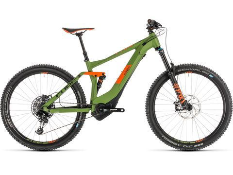 ELEKTROKOLO CUBE STEREO HYBRID 140 RACE 500 27.5 2019 green/orange