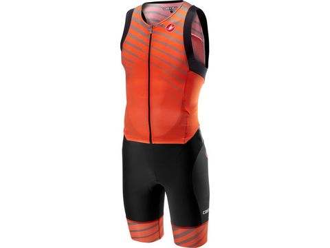 Castelli - triatlonová kombinéza Free Sanremo suit sleeveless, orange