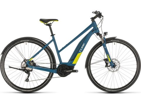 Elektrokolo CUBE NATURE HYBRID EXC ALLROAD 500 TRAPEZE 2020 Blue´n´lime